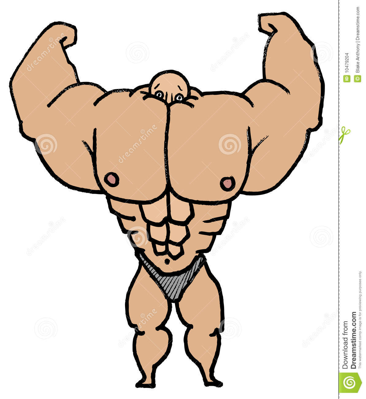 muscle man stock vector illustration of physical steroids 10479204 rh dreamstime com Muscle Man Clip Art Clothes muscle man clipart