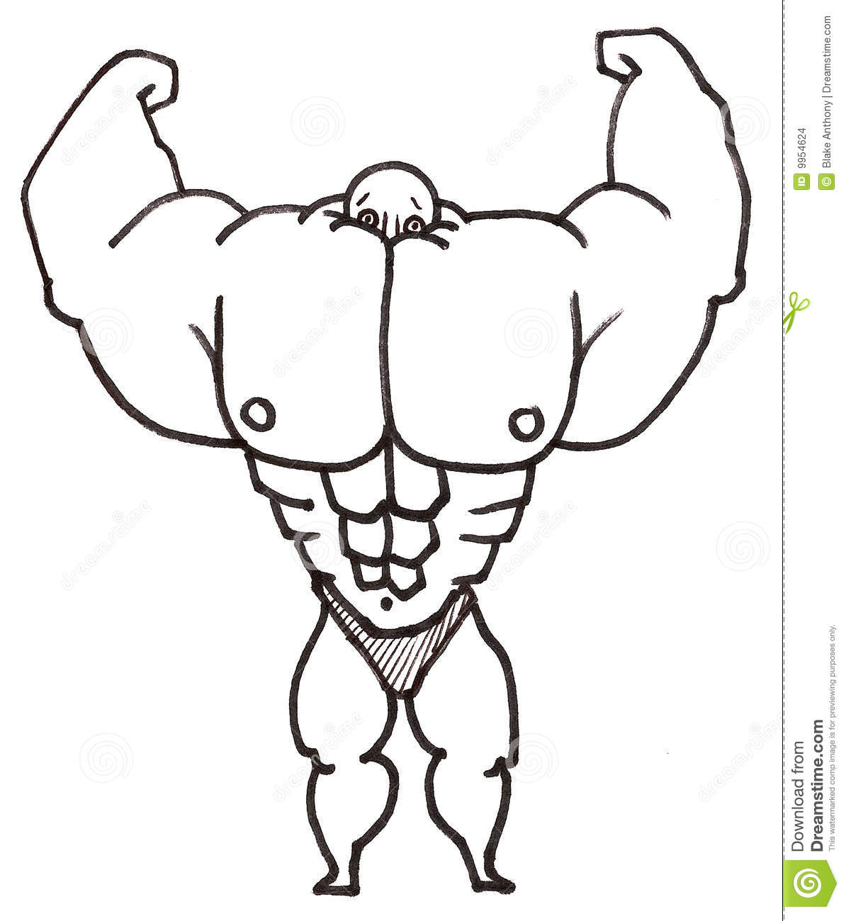 Muscle Man Stock Images - Image: 9954624