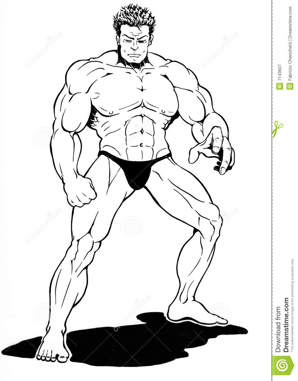 It is a photo of Critical Muscular Guy Drawing
