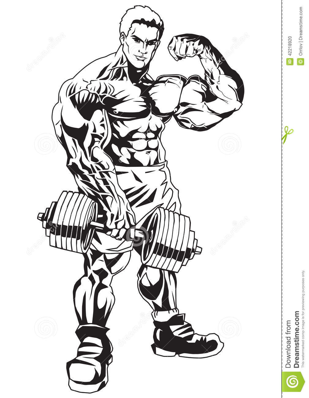 muscle man coloring pages - photo#28