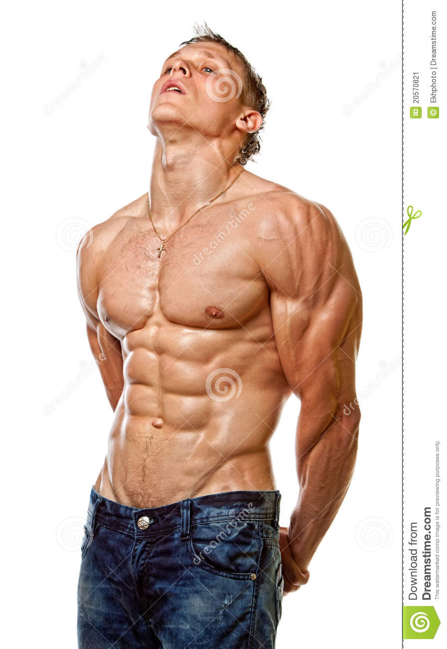 Half Naked Fitness Man Stock Photos - Download 456 Royalty