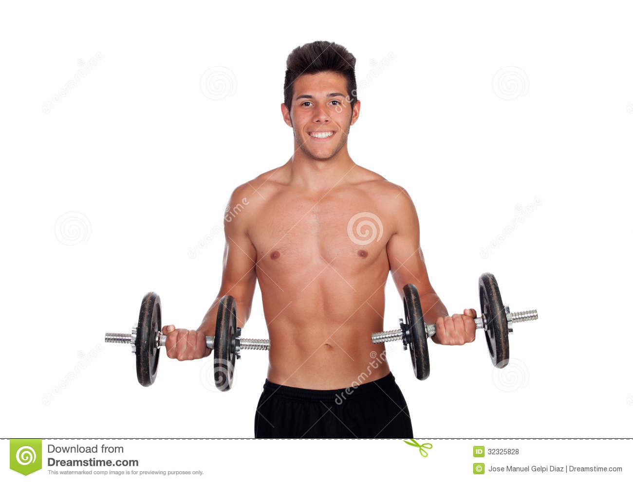 Muscled Guy Lifting Weights Royalty Free Stock Photos ...
