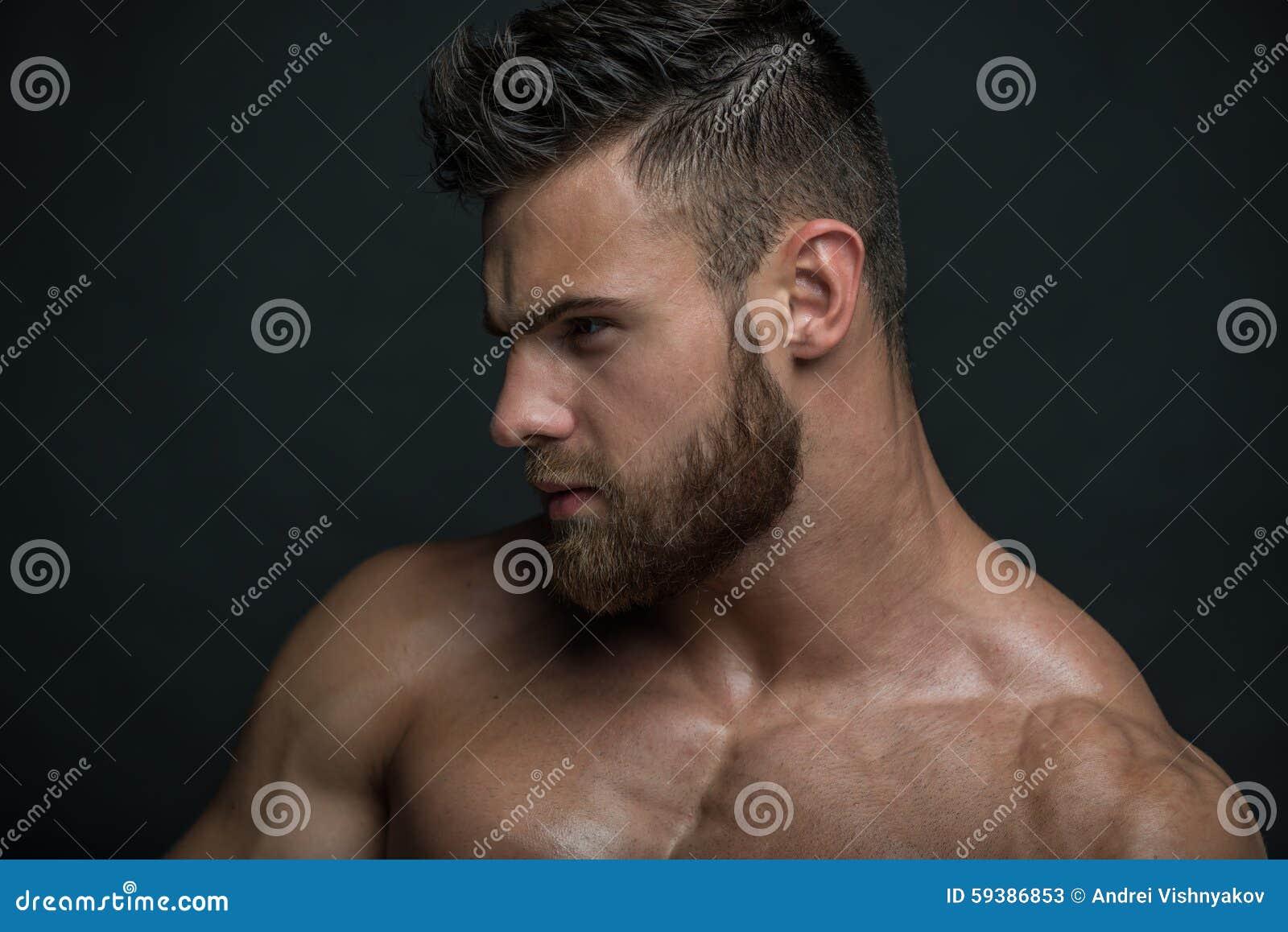 Muscled Male Model Konstantin Kamynin Stock Photo - Image