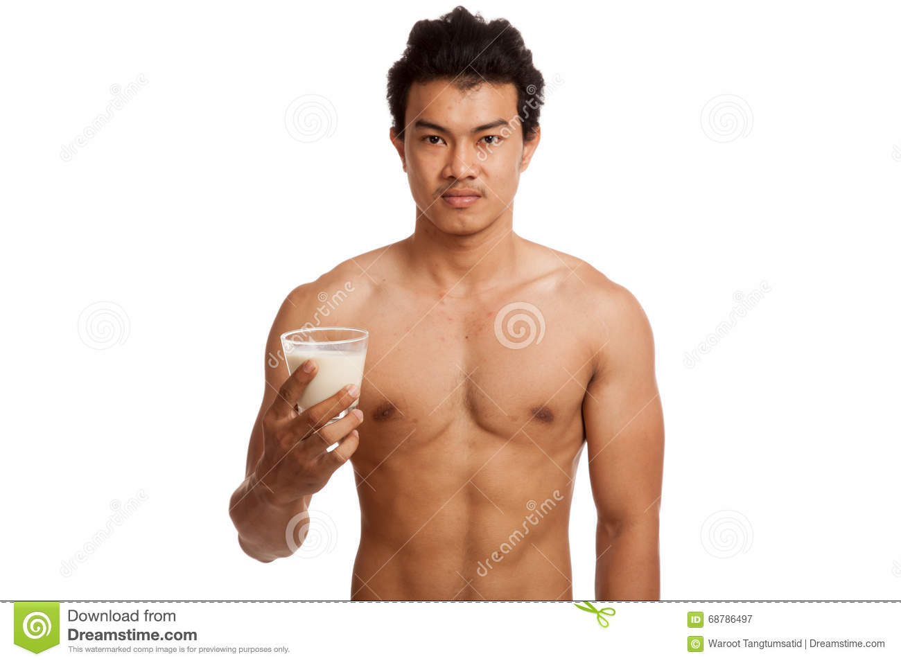 Muscular guy pours milk cums gay they took 6