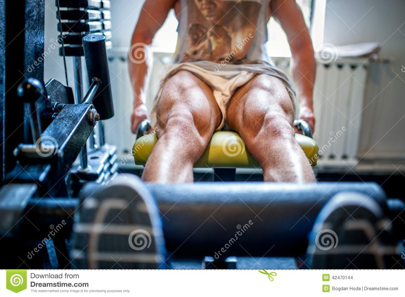 Muscular Feet Of A Bodybuilder In The Gym Stock Photo Image Of