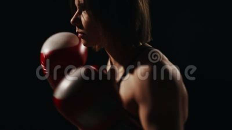 Muscular Fitness Girl Training With His Instructor To Carry Out