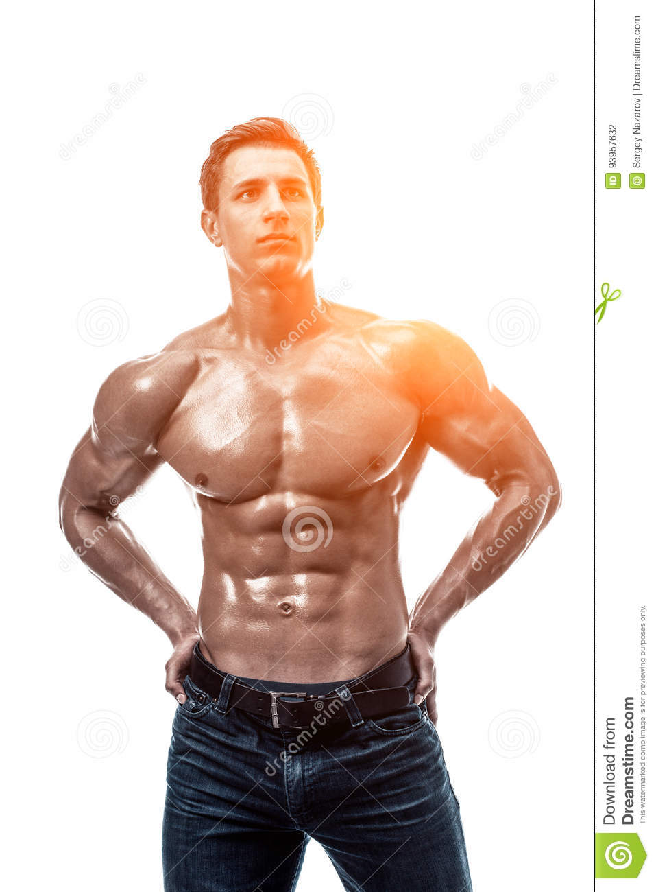 Handsome Young Man With Naked Torso Stock Photo - Image of