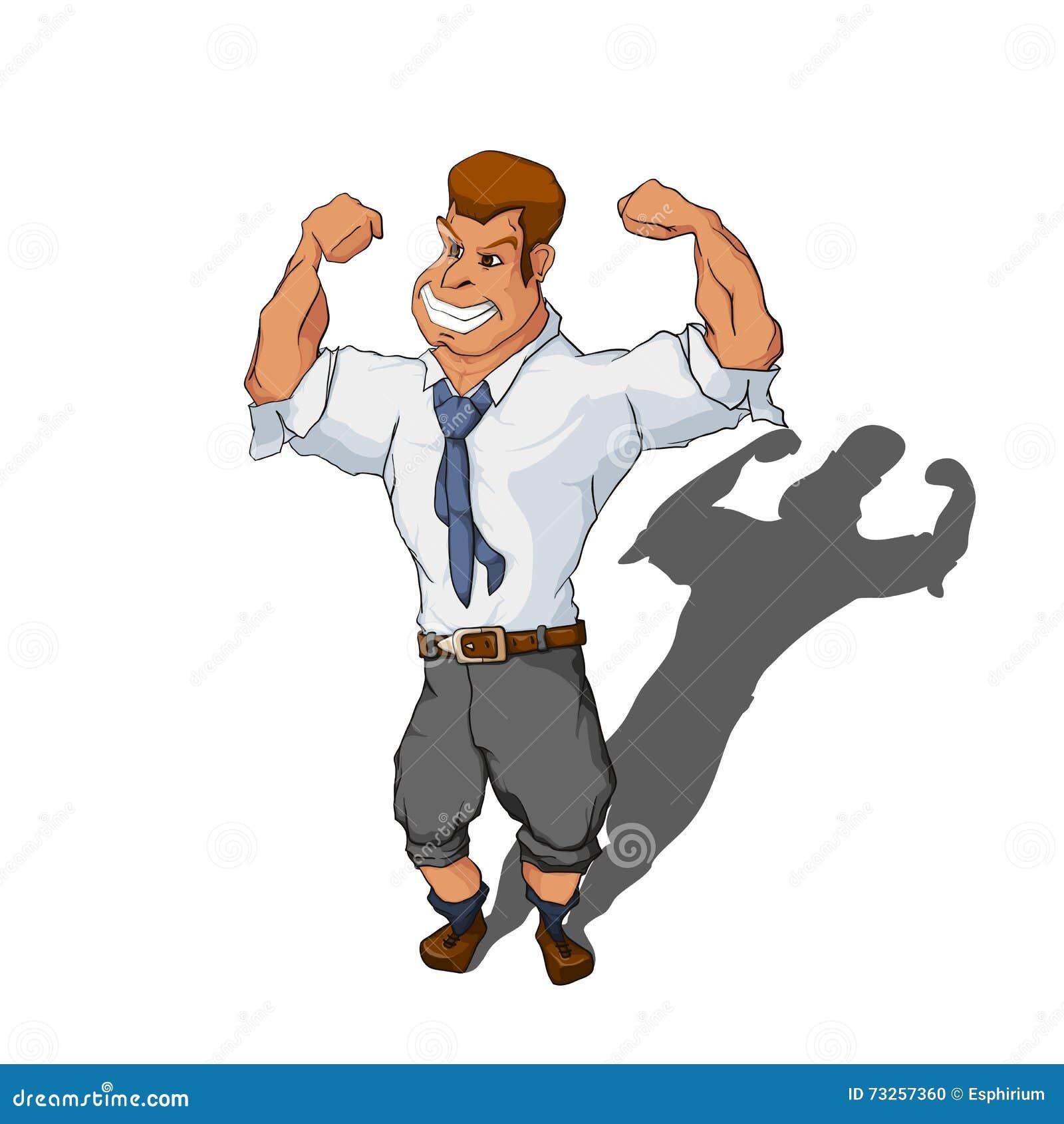 Cartoon Characters In Suits : Cartoon character muscle man adultcartoon