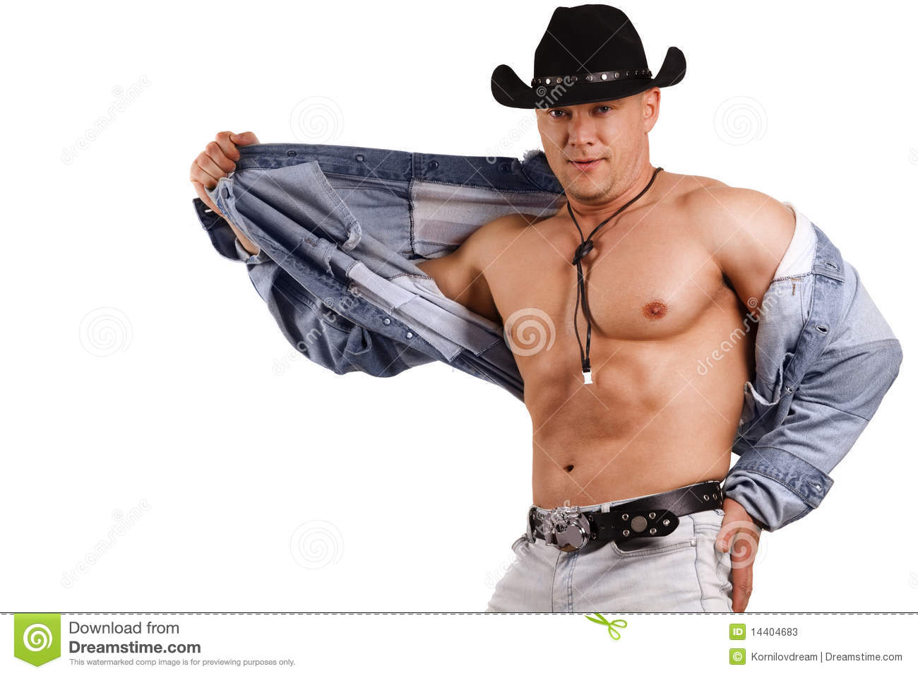 A Muscular Man In A Cowboy Hat Stock Photos Image 14404683