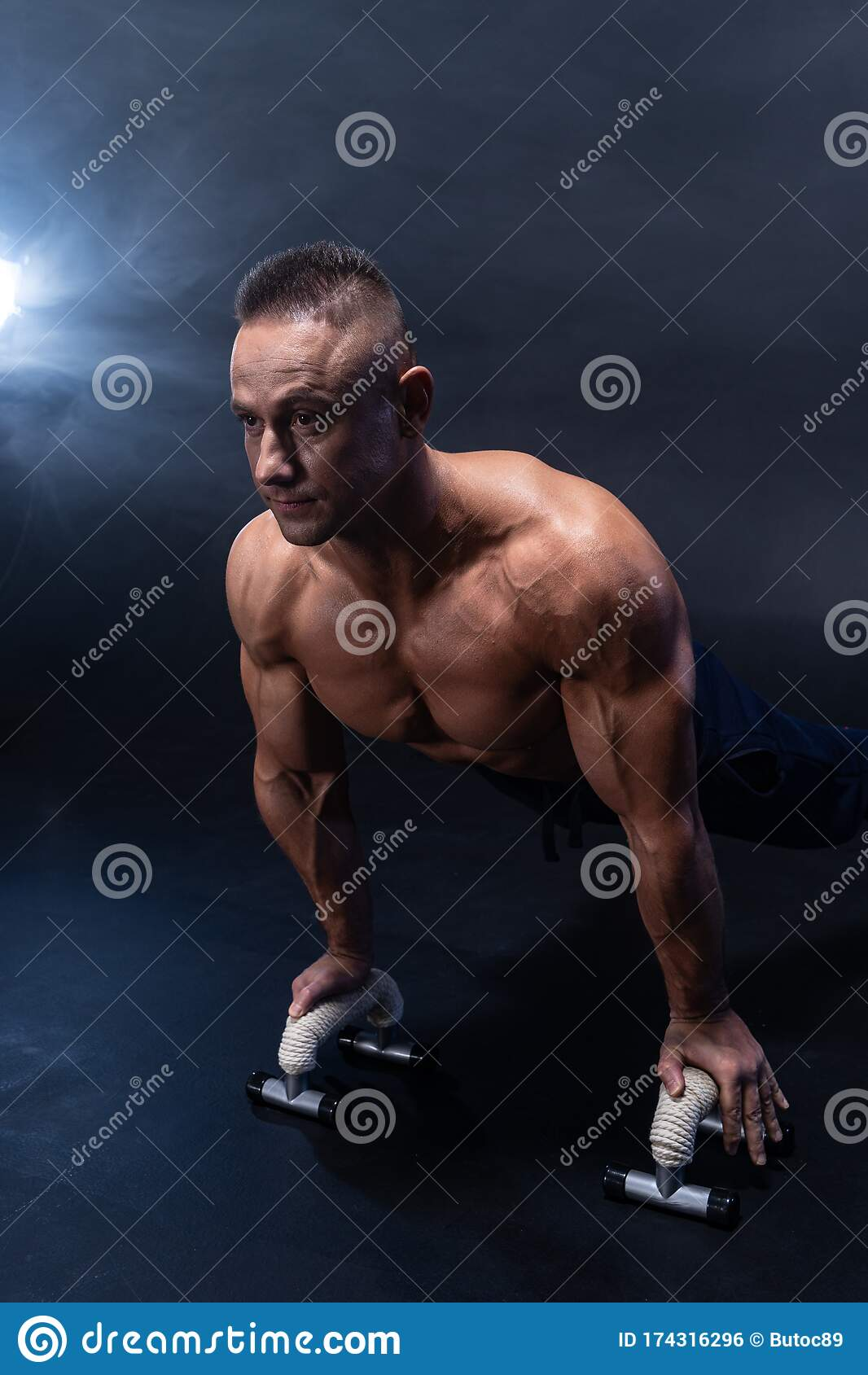 Sexy Male Fitness Model Outdoors Royalty-Free Stock Photo