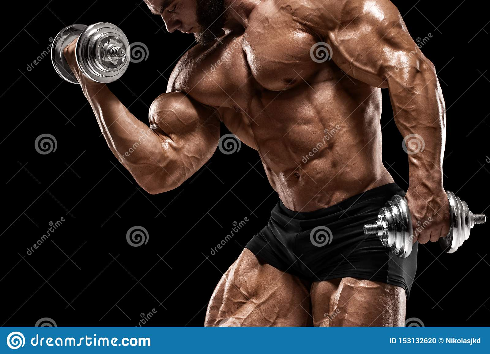 Bodybuilder black Nathan's Muscle