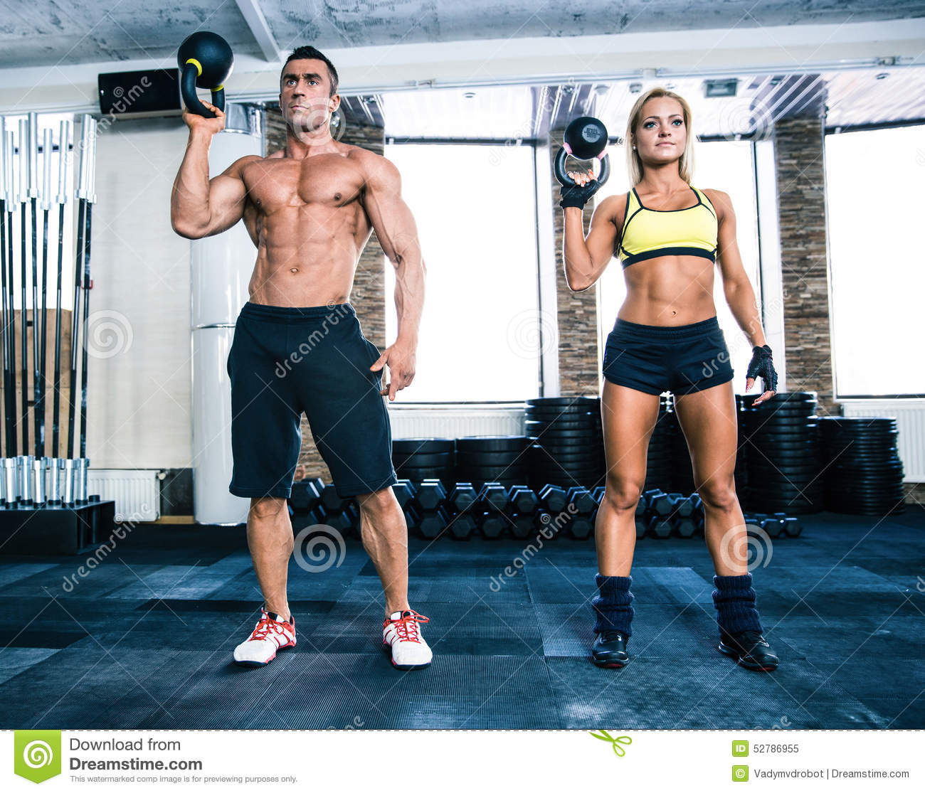 Muscular Man And Fit Woman Workout With Kettle Ball Stock Image Image Of Arms Sporty 52786955 Самые новые твиты от fit men & women (@fitmenandwomen): dreamstime com