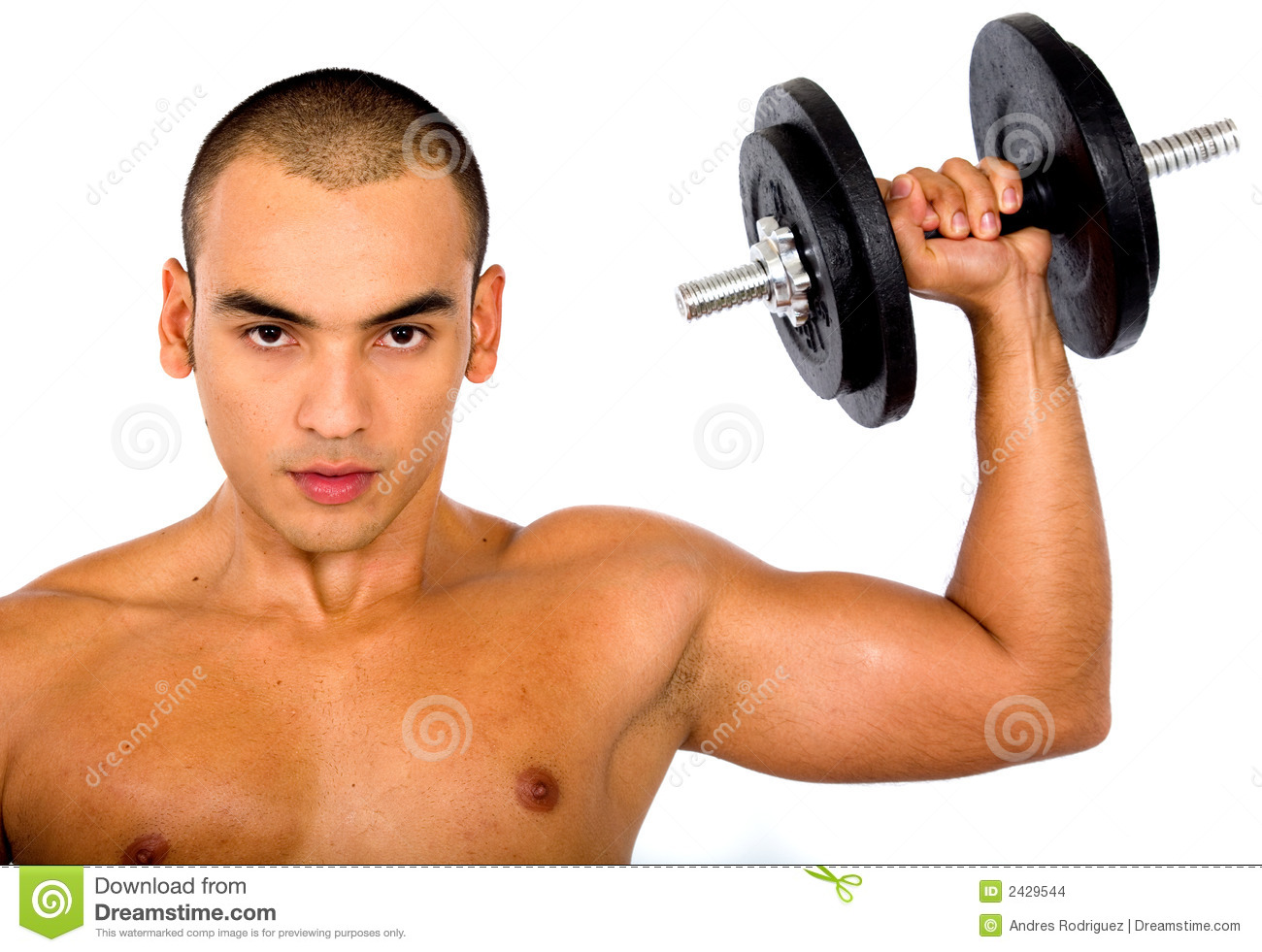 Muscular Man Lifting Weights Stock Photo - Image: 2429544