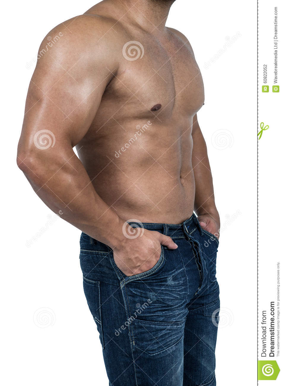 Sexy Strong Bodybuilder Athletic Fitness Man Stock Photo