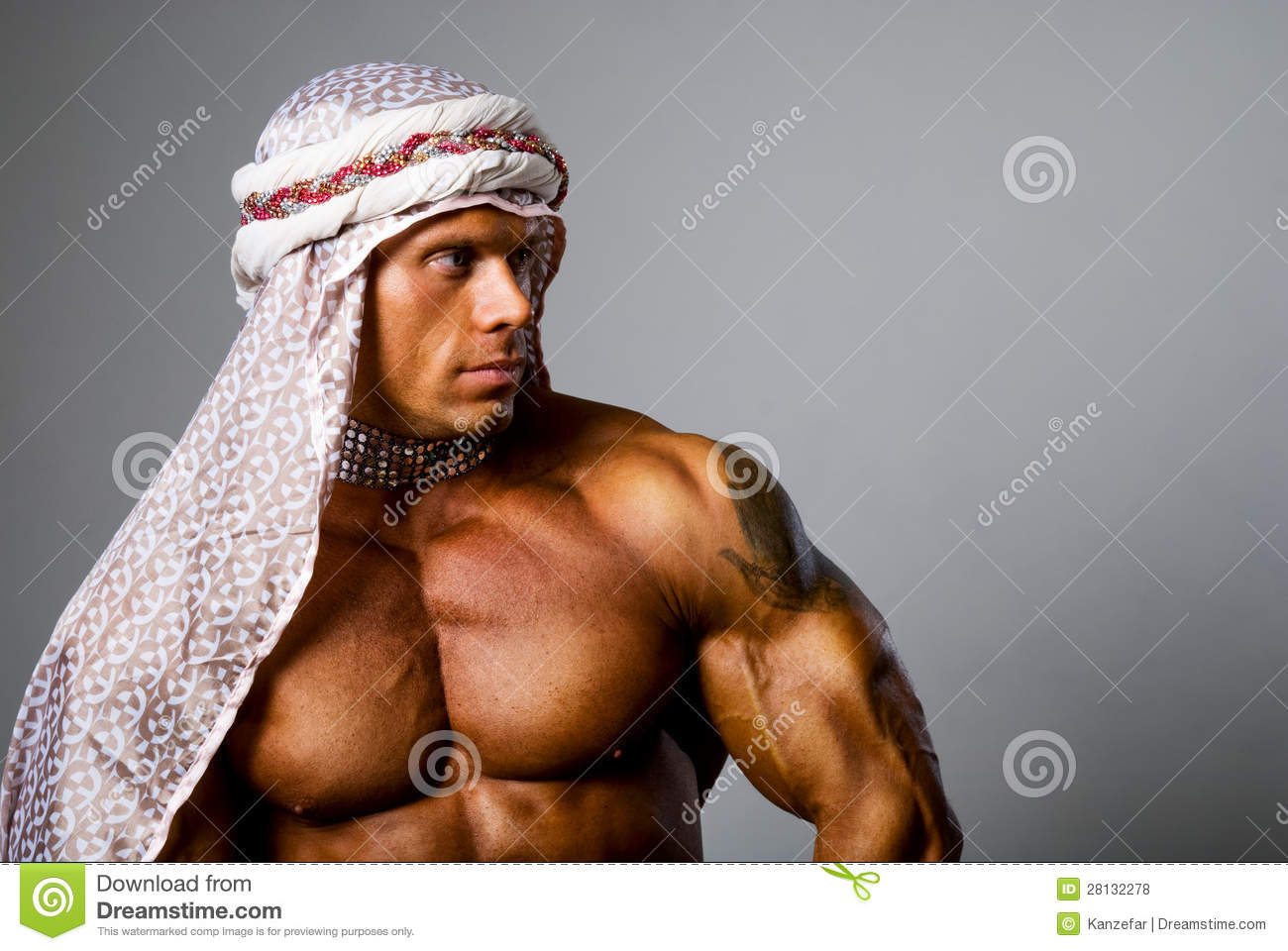 naked sexy fitness model