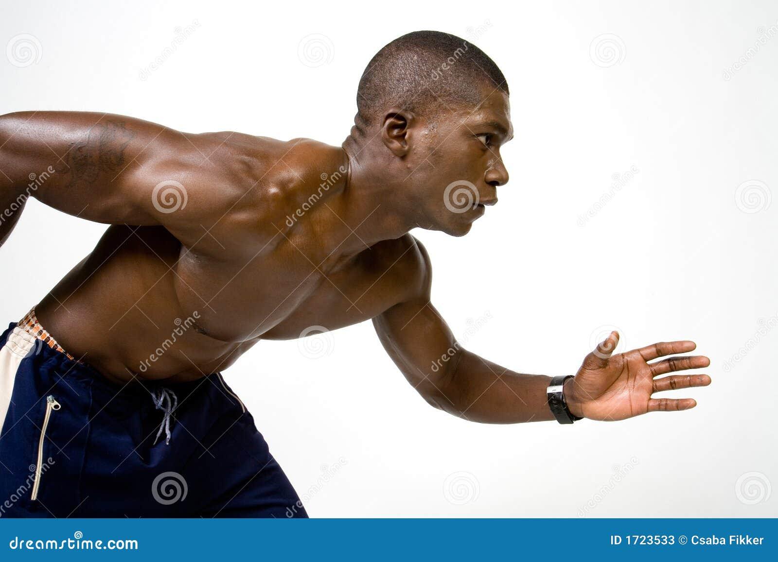 Cheerful Muscular Runner At The Beach stock photo 494616068   iStock