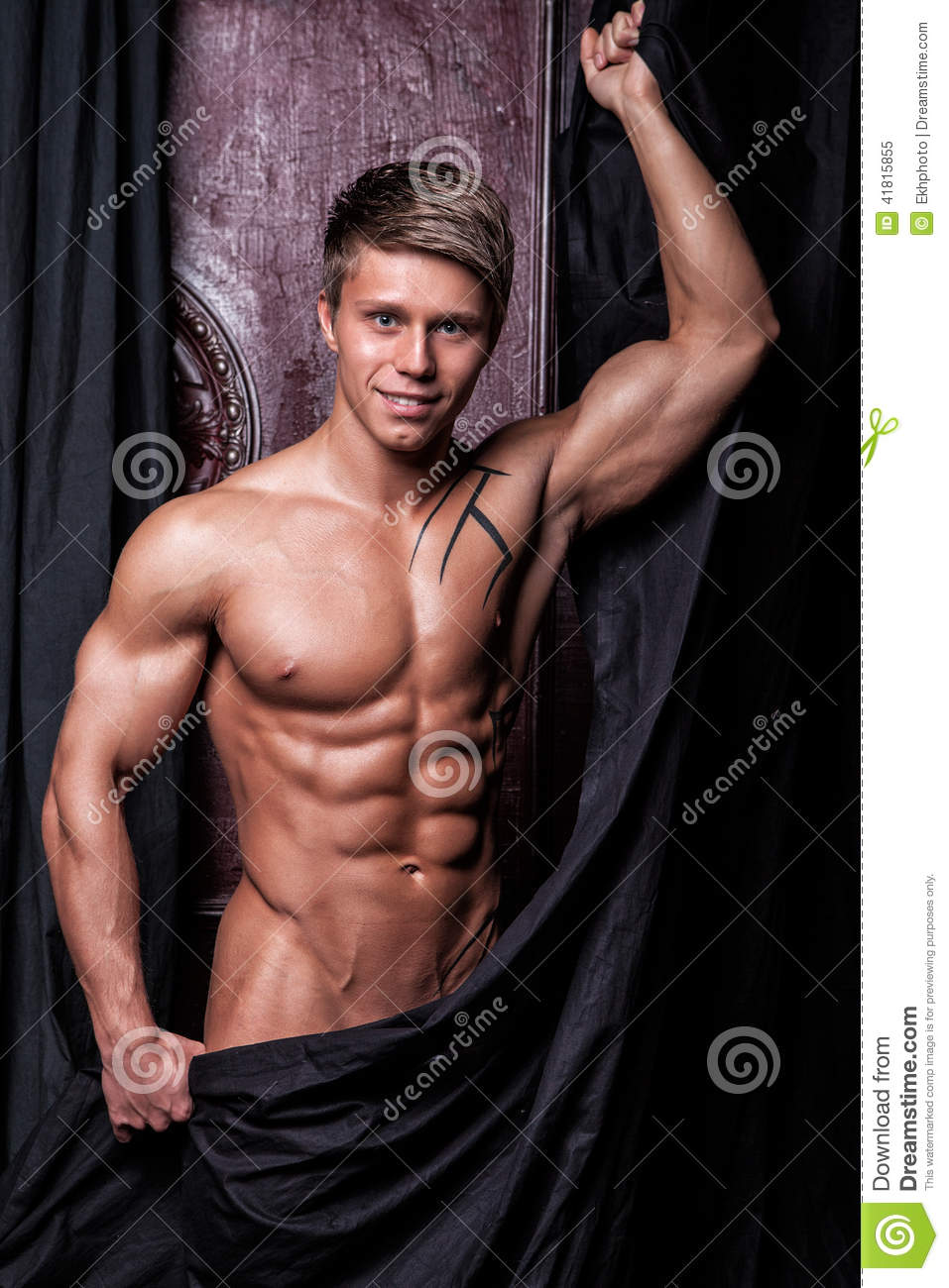 Muscular Young Naked Athlete Stock Image - Image Of Male -7544