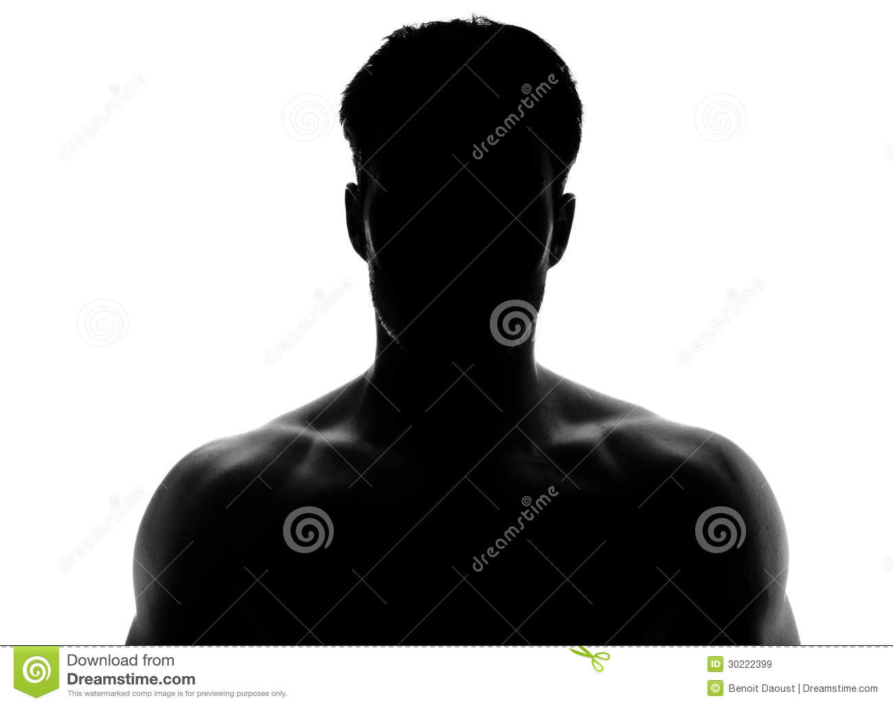 Muscular Silhouette Of A Young Man Royalty Free Stock ...