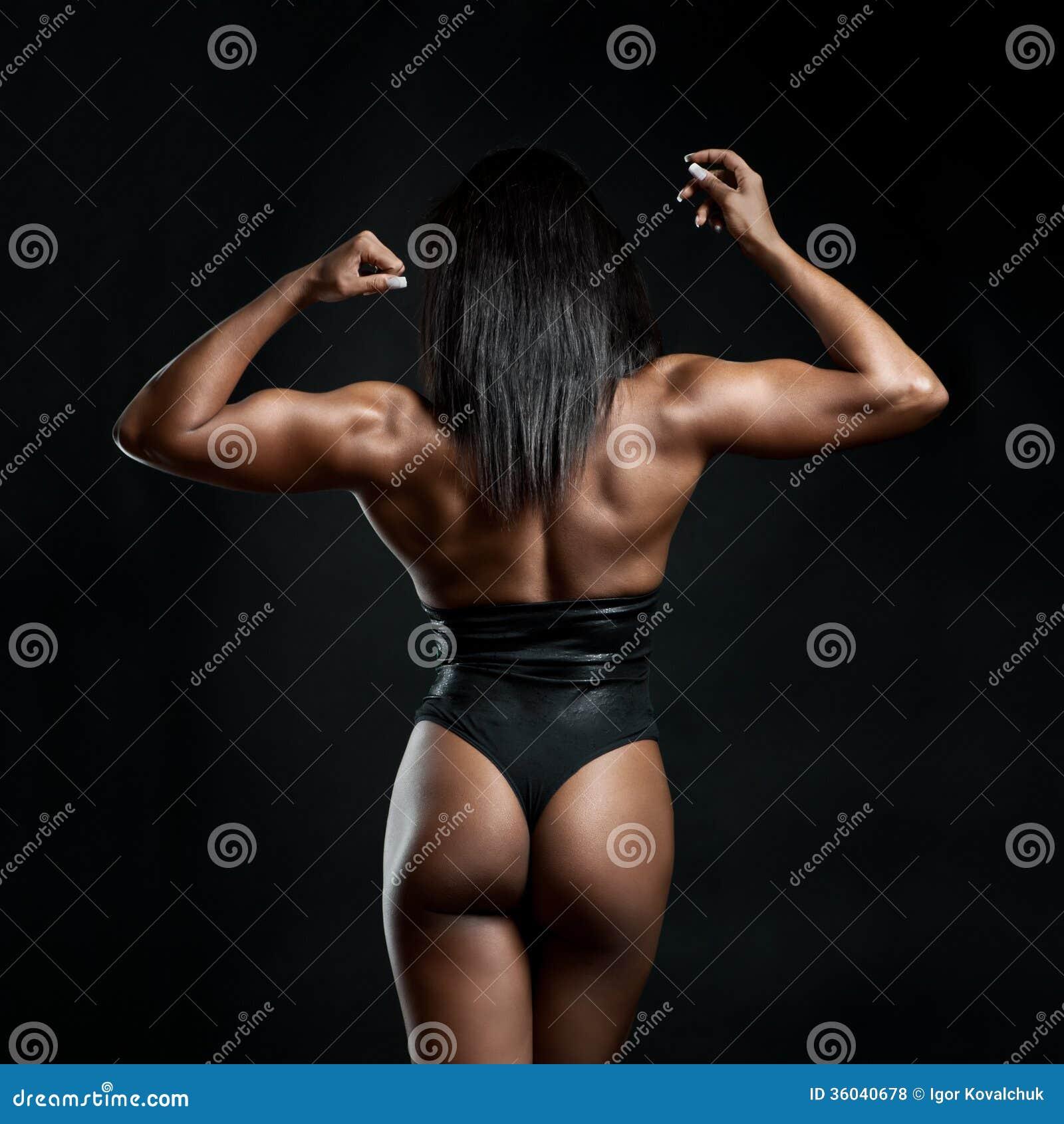 strong muscular black women porn