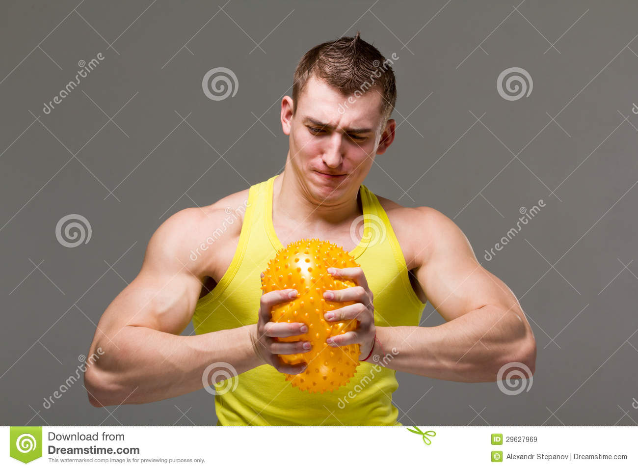 Flexing Arm Muscle
