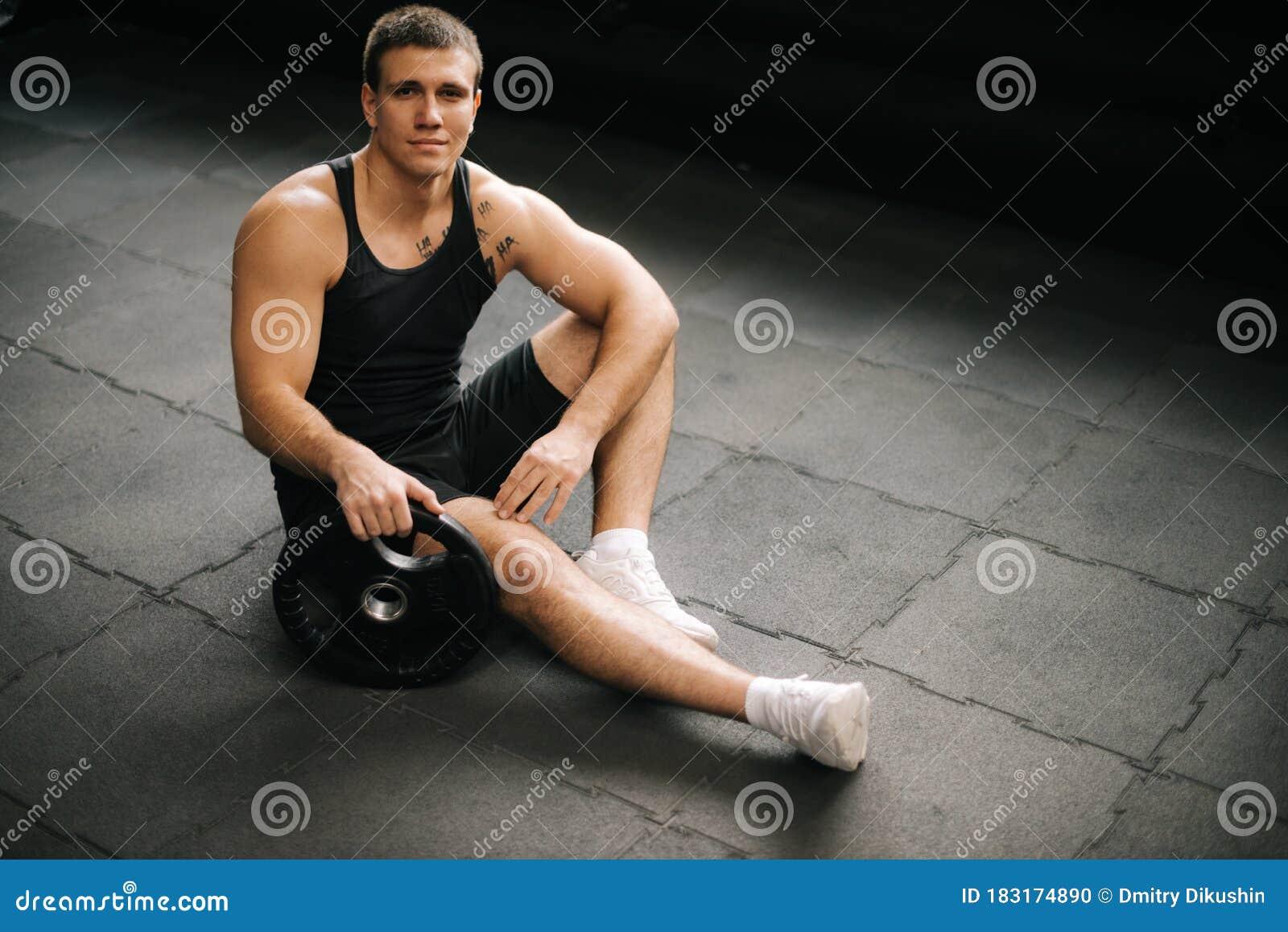 Naked Muscular Man, Isolated On White Stock Image - Image