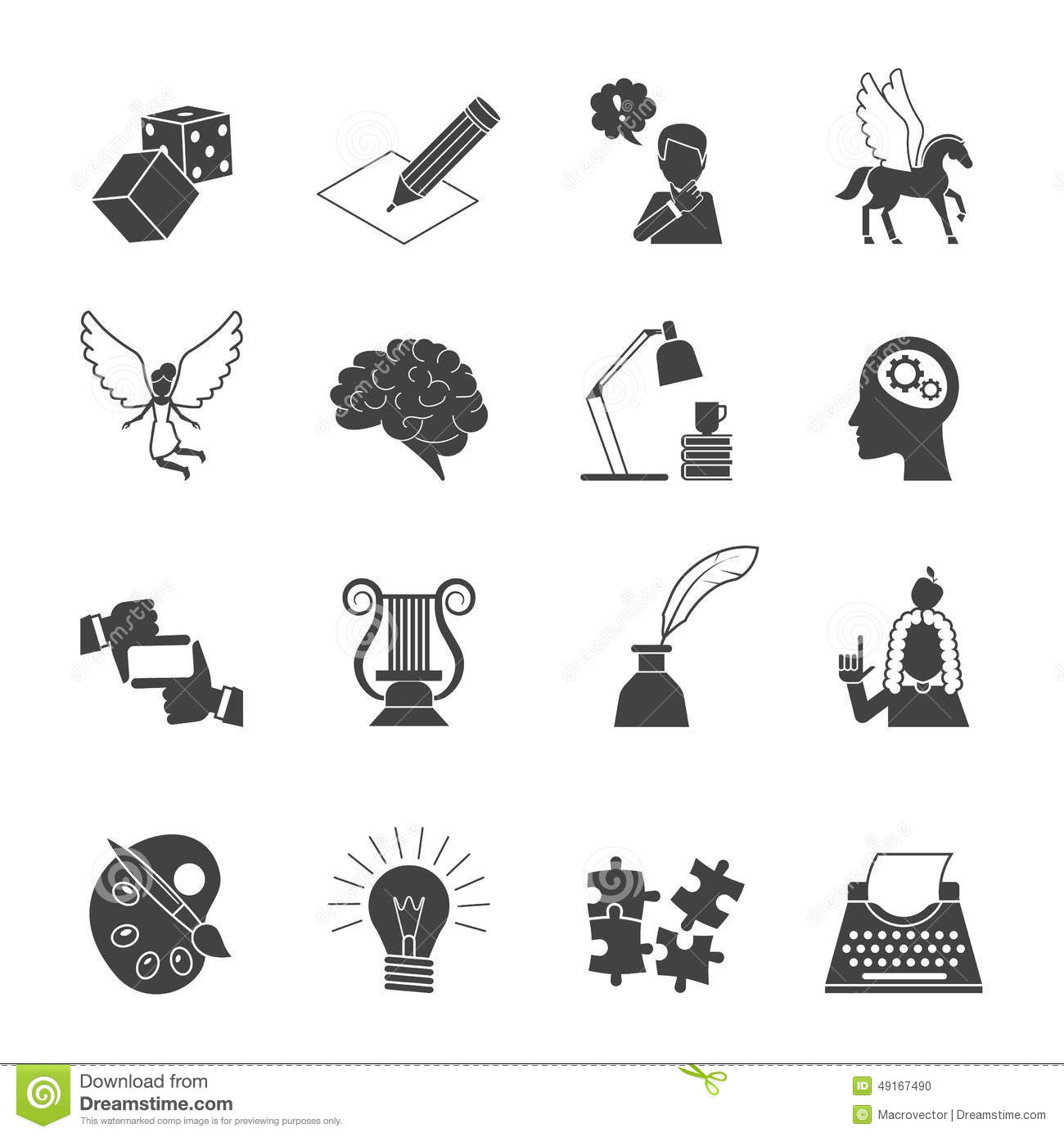Muse Icon Set Stock Ve...