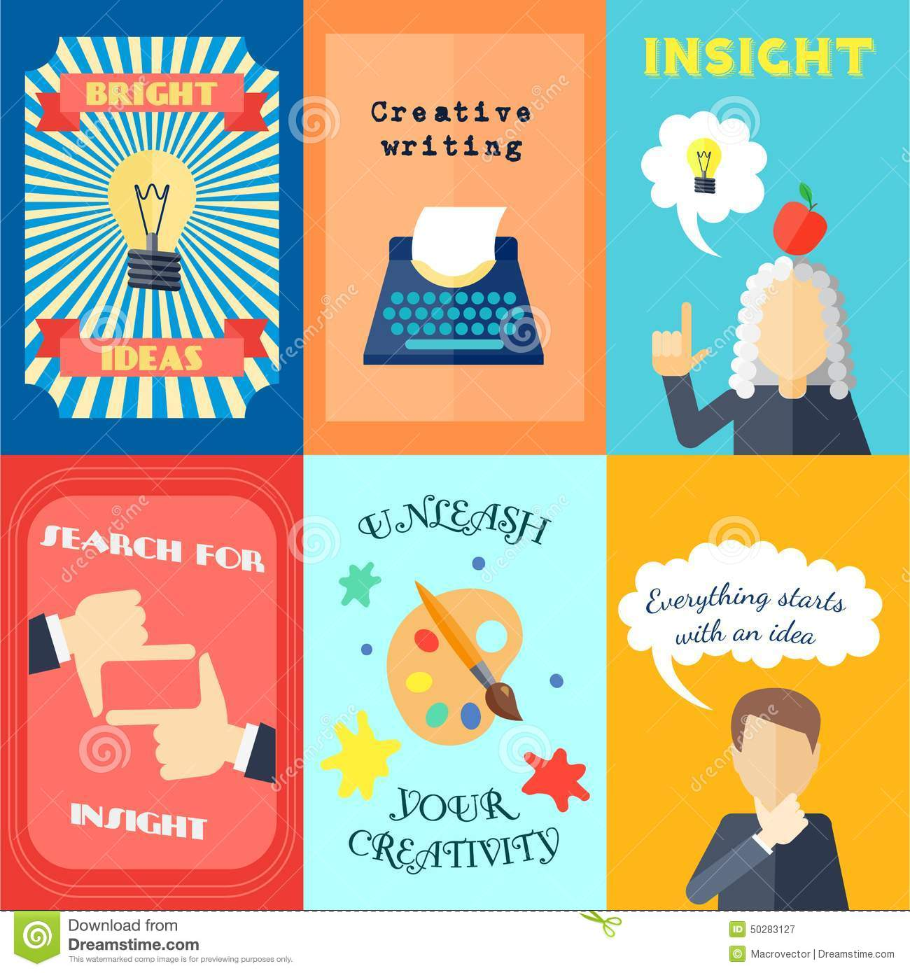 Muse bright ideas creative writing and insights mini poster set ...
