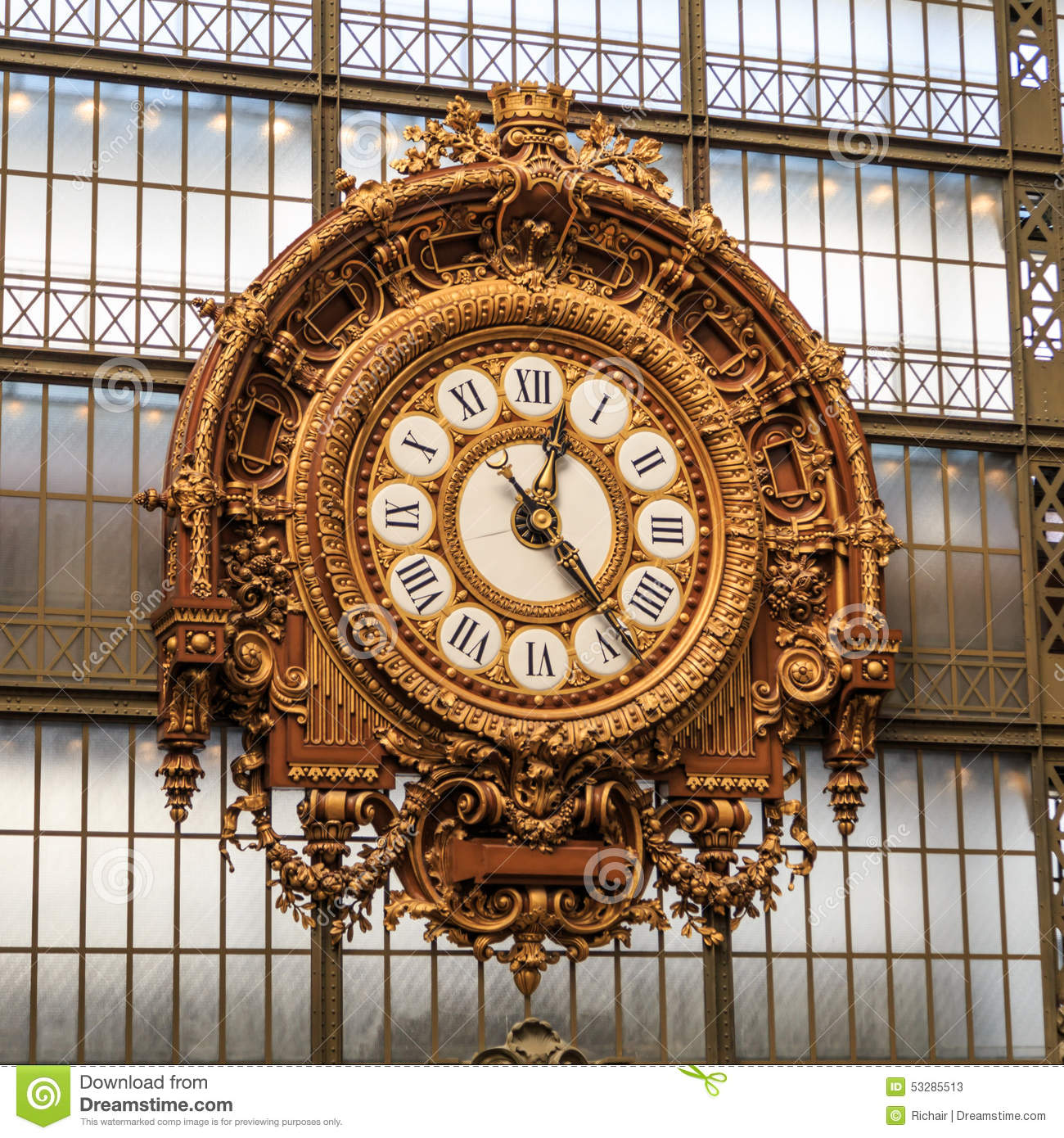 musee d 39 orsay clock stock image image of hour europe. Black Bedroom Furniture Sets. Home Design Ideas