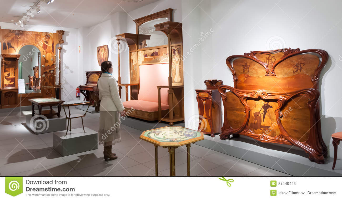Museo De Modernismo Catalan En Barcelona Foto De Archivo Editorial  # Muebles Catalan