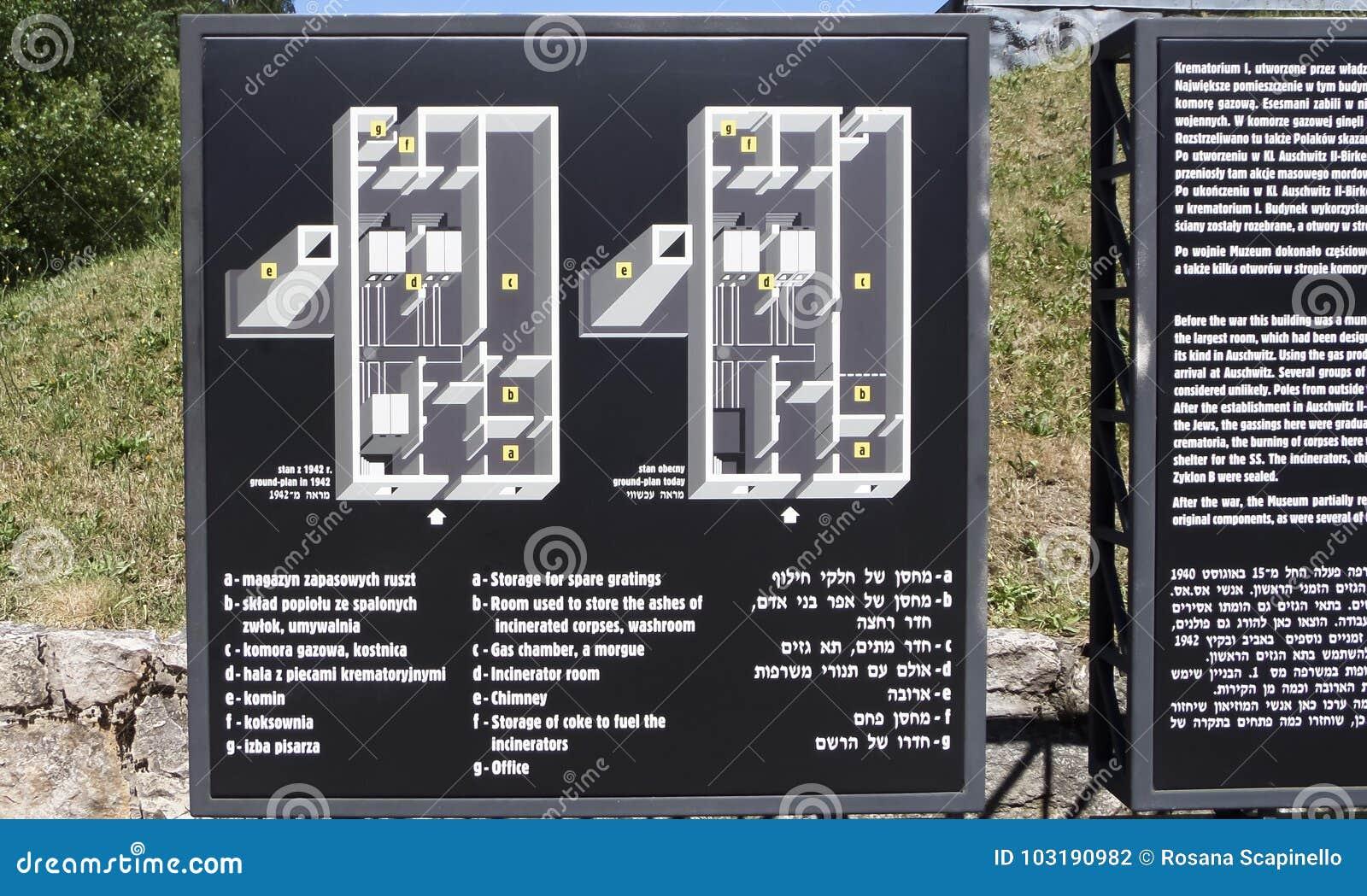 Museo Del Campo De Concentracion De Auschwitz Mapa De Las