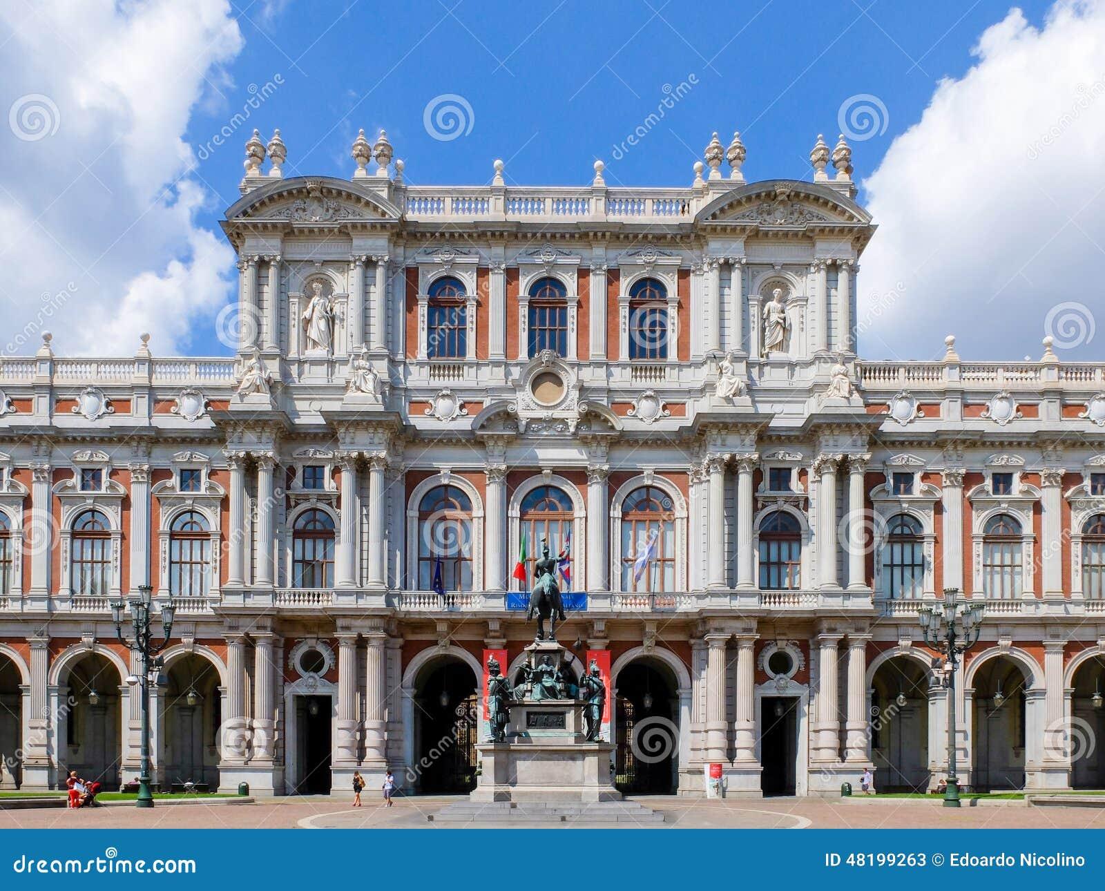 Museo Del Risorgimento Torino.Museo Dell Edificio Di Risorgimento Torino Italia Fotografia Stock