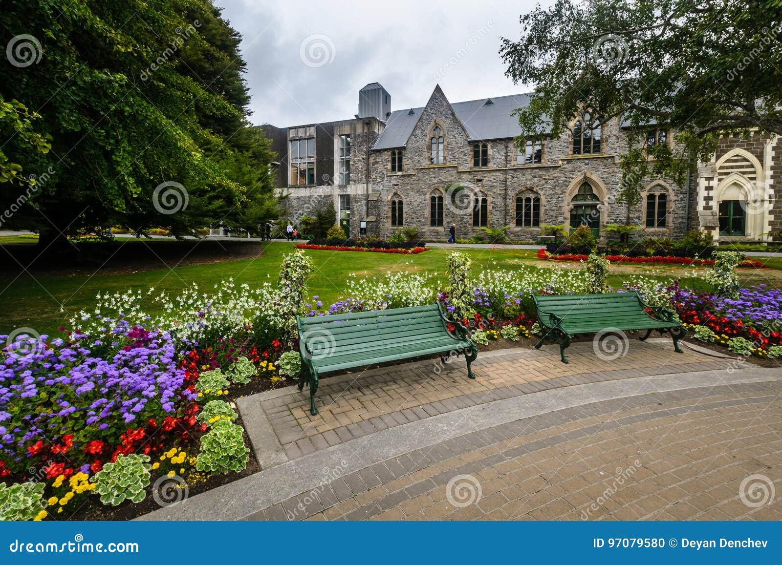 Museo di Canterbury e giardini, Christchurch, Nuova Zelanda