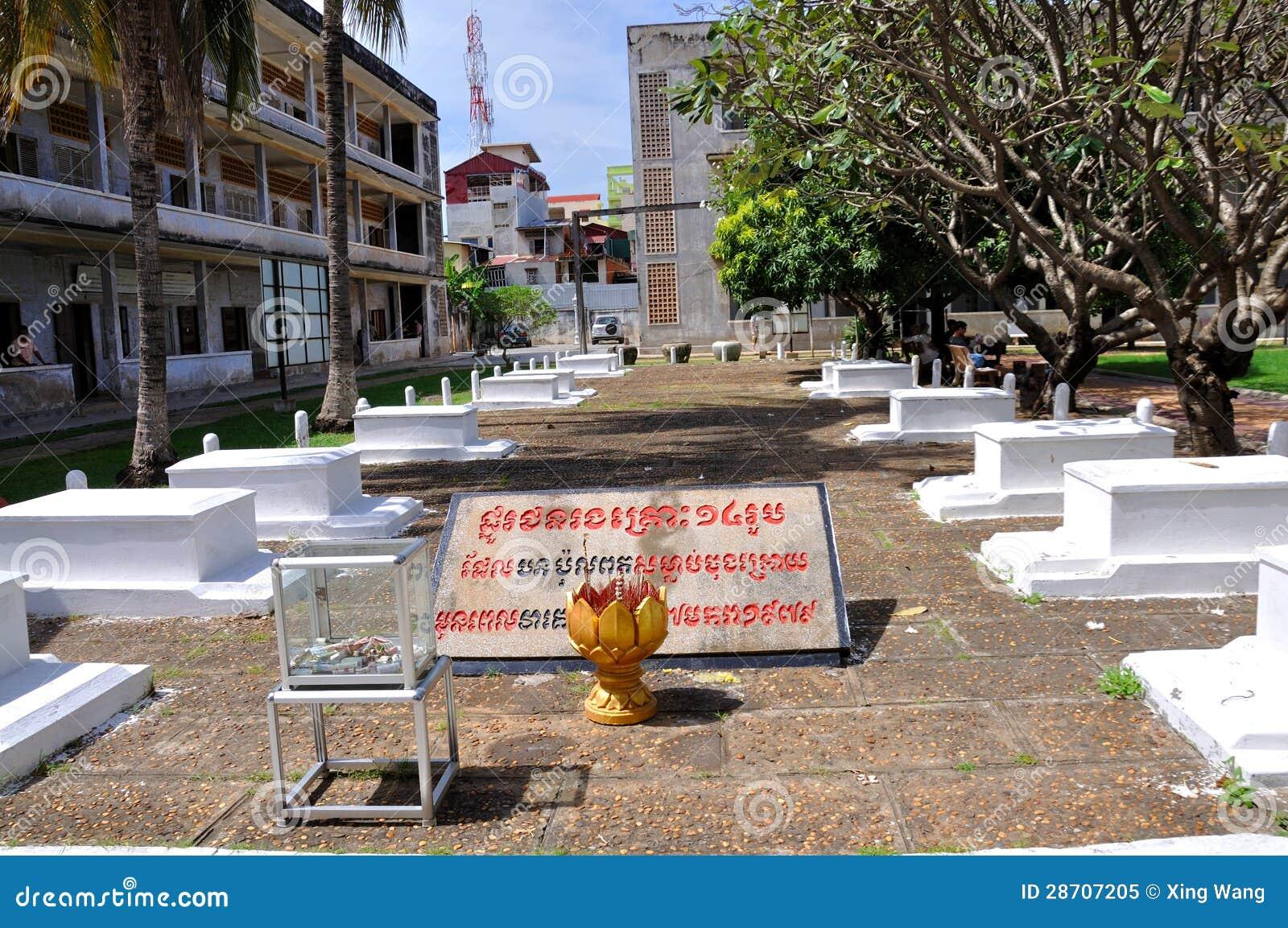 Museo di genocidio di Tuol Sleng, Phnom Penh, Cambogia