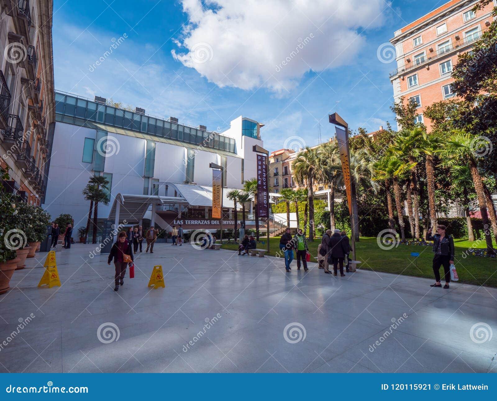 Museo Famoso Thyssen Bornemisza En Madrid Foto Editorial