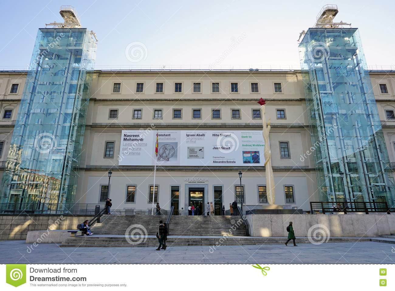 The Museo Reina Sofia Museum In Madrid Editorial Photography - Image: 71639917