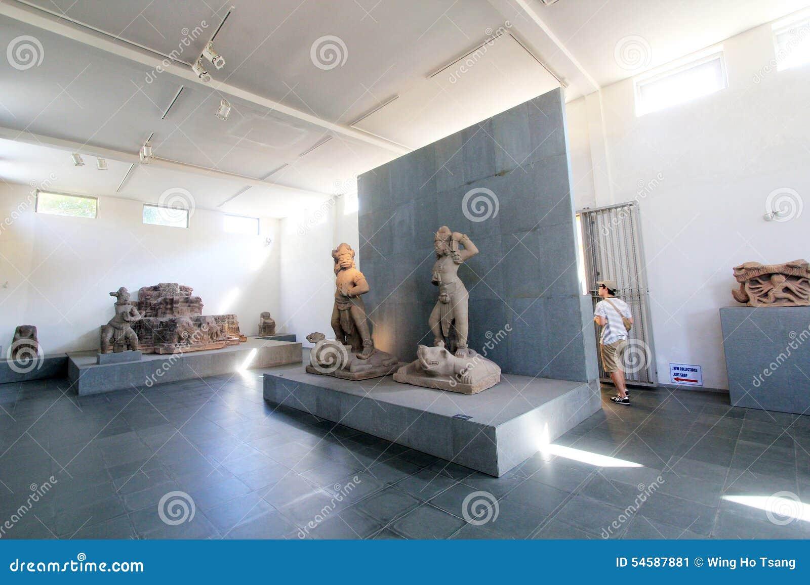 Museu do Da Nang de Vietname da escultura do homem poderoso