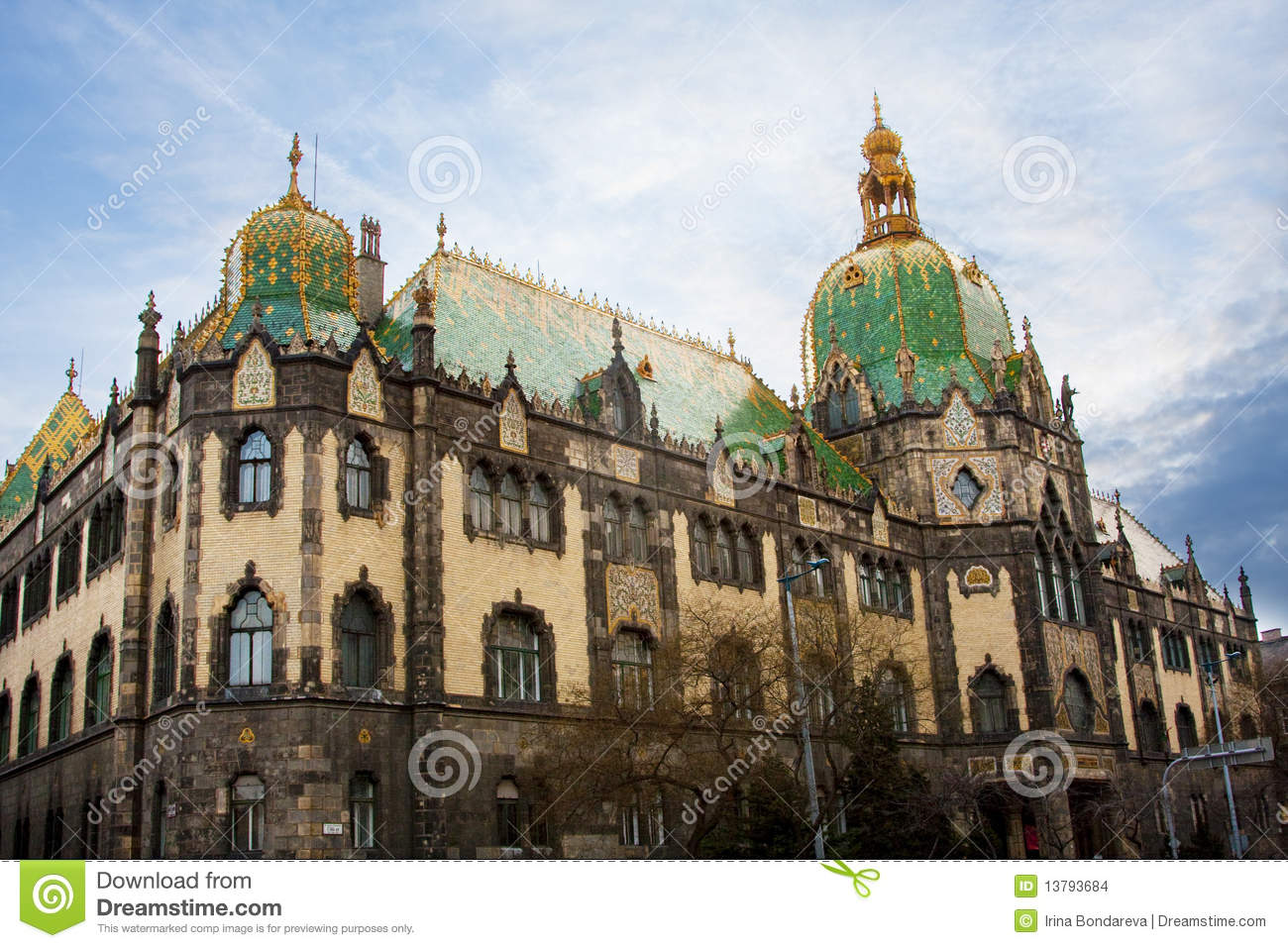 Museum Of Applied Arts Budapest Stock Photo Image Of Capital Fortress 13793684