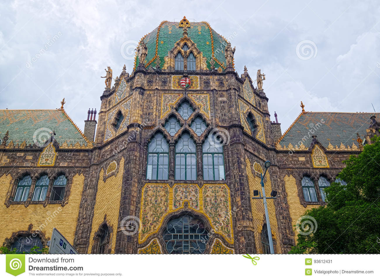 Museum Of Applied Arts In Budapest Hungary Editorial Photo Image Of Budapest Facade 93612431