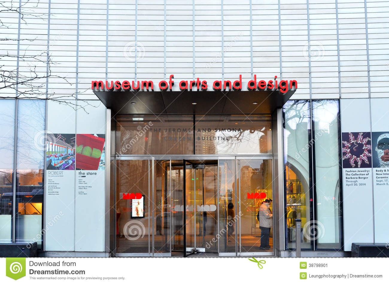 Museum Of Arts And Design : Museum of arts and design entrance editorial photo image