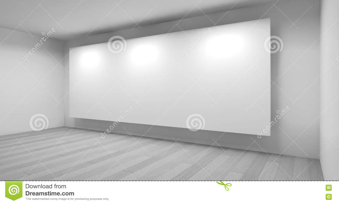 Museum Clean Art Gallery Space With Blank Frames On The