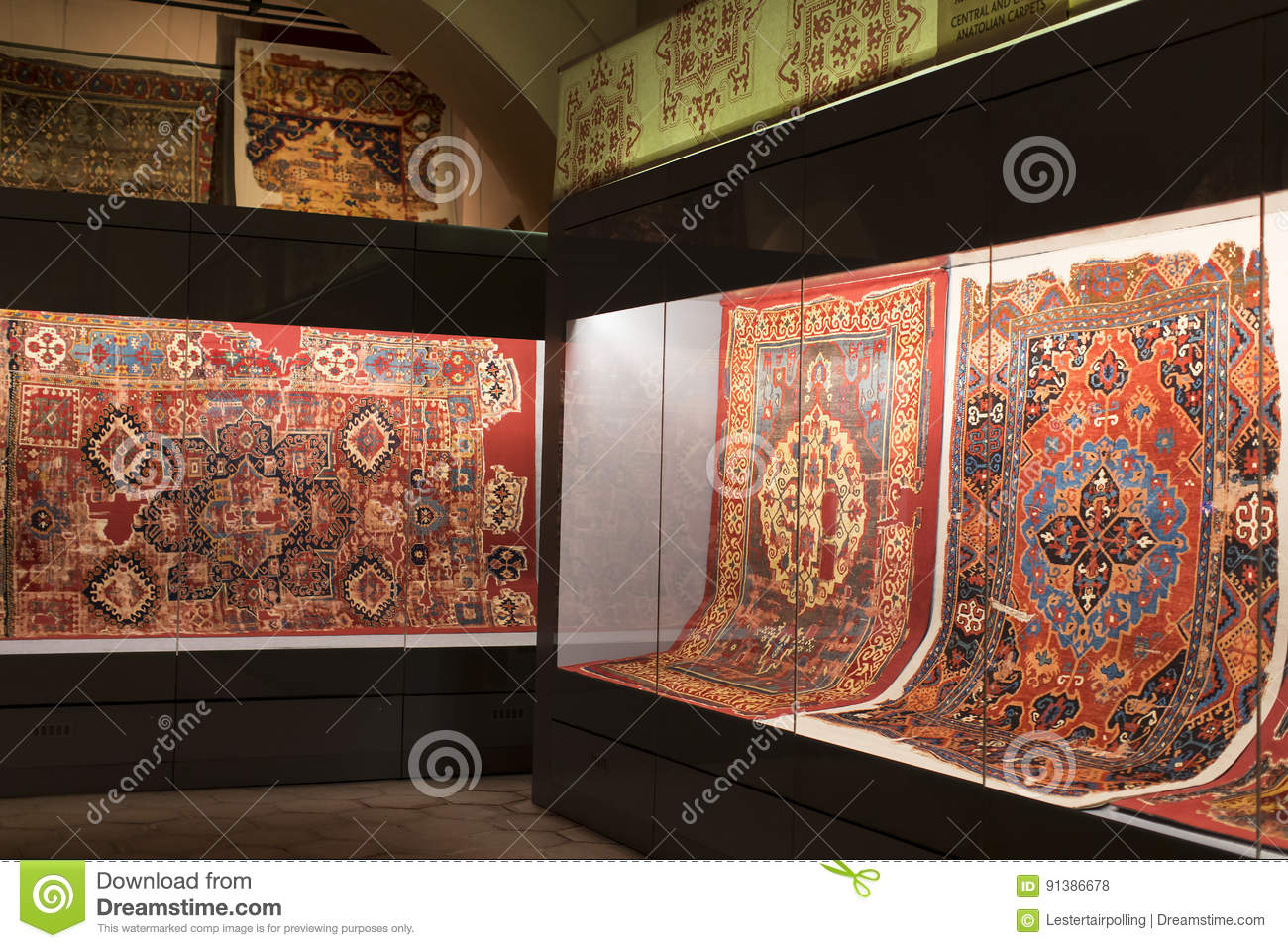 Museum Collection Of Ancient Rare Carpets Of Istanbul Editorial