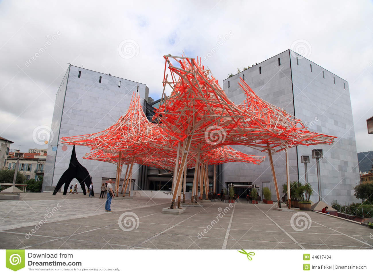 Museum Of Contemporary Art In Nice France Editorial Stock Image