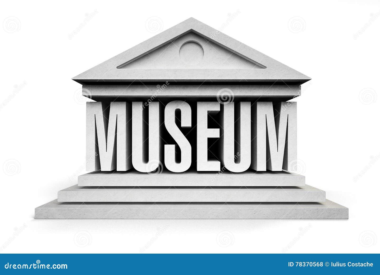 Museum stock illustration  Illustration of classic, sign - 78370568