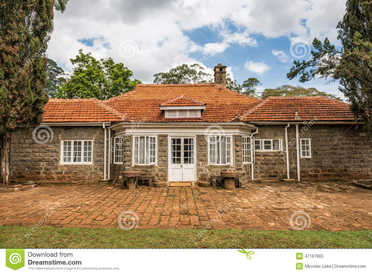 Museum of karen blixen in nairobi kenya editorial image