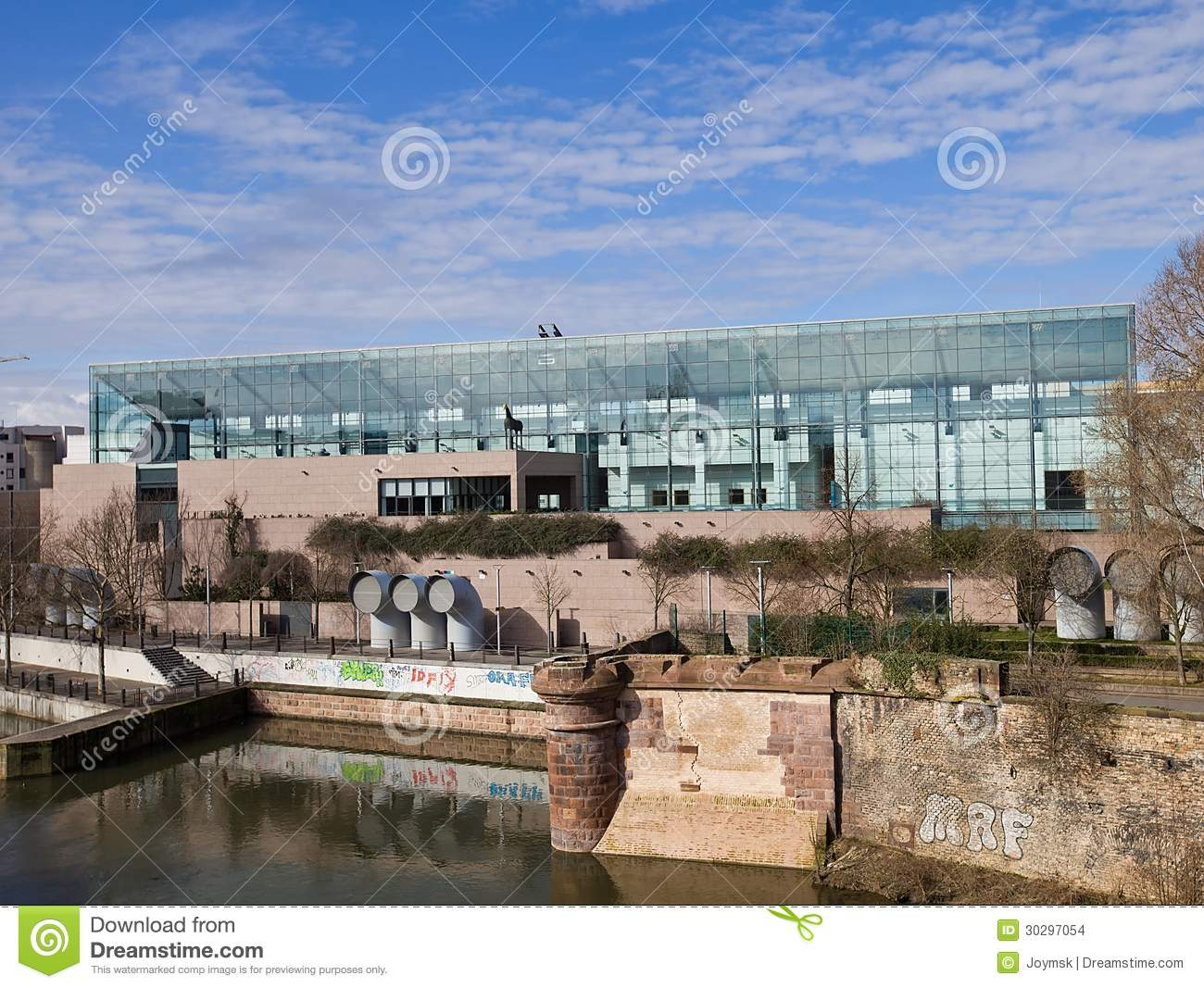 museum of modern and contemporary of strasbourg stock images image 30297054