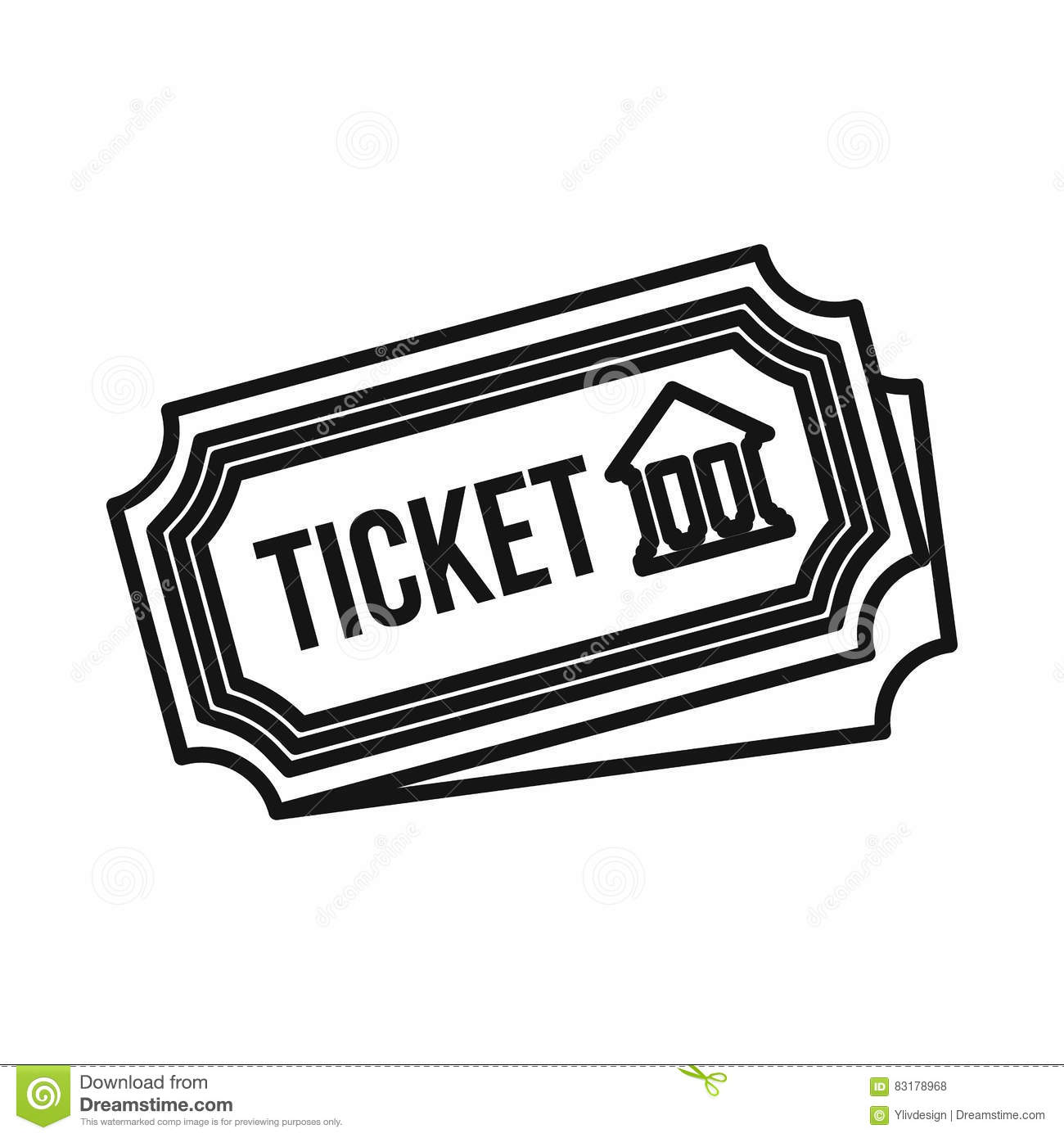 Museum Ticket Icon Outline Style Vector Image 83178968 – Ticket Outline