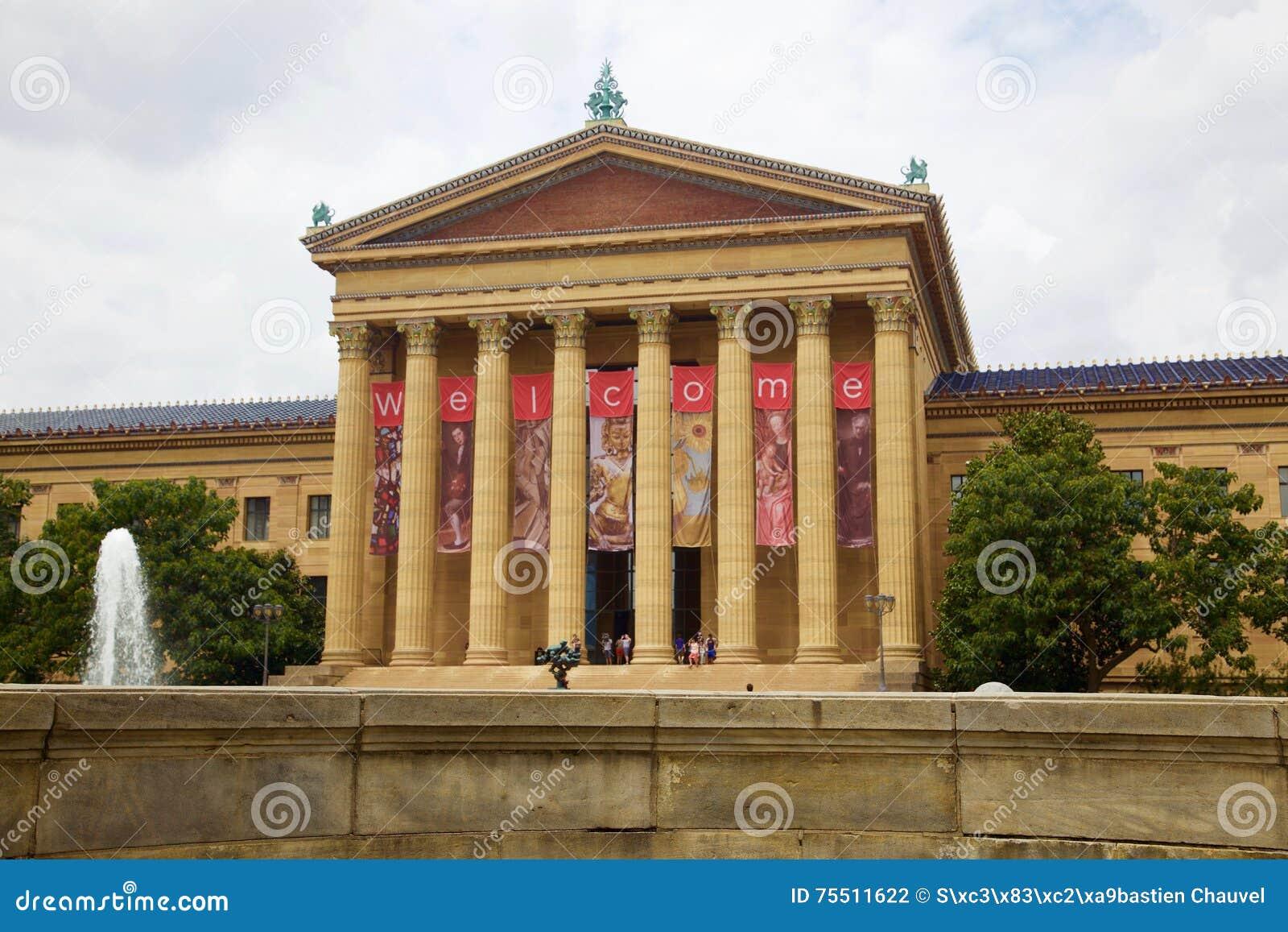 Museum van kunst Philadelphia in Verenigde Staten