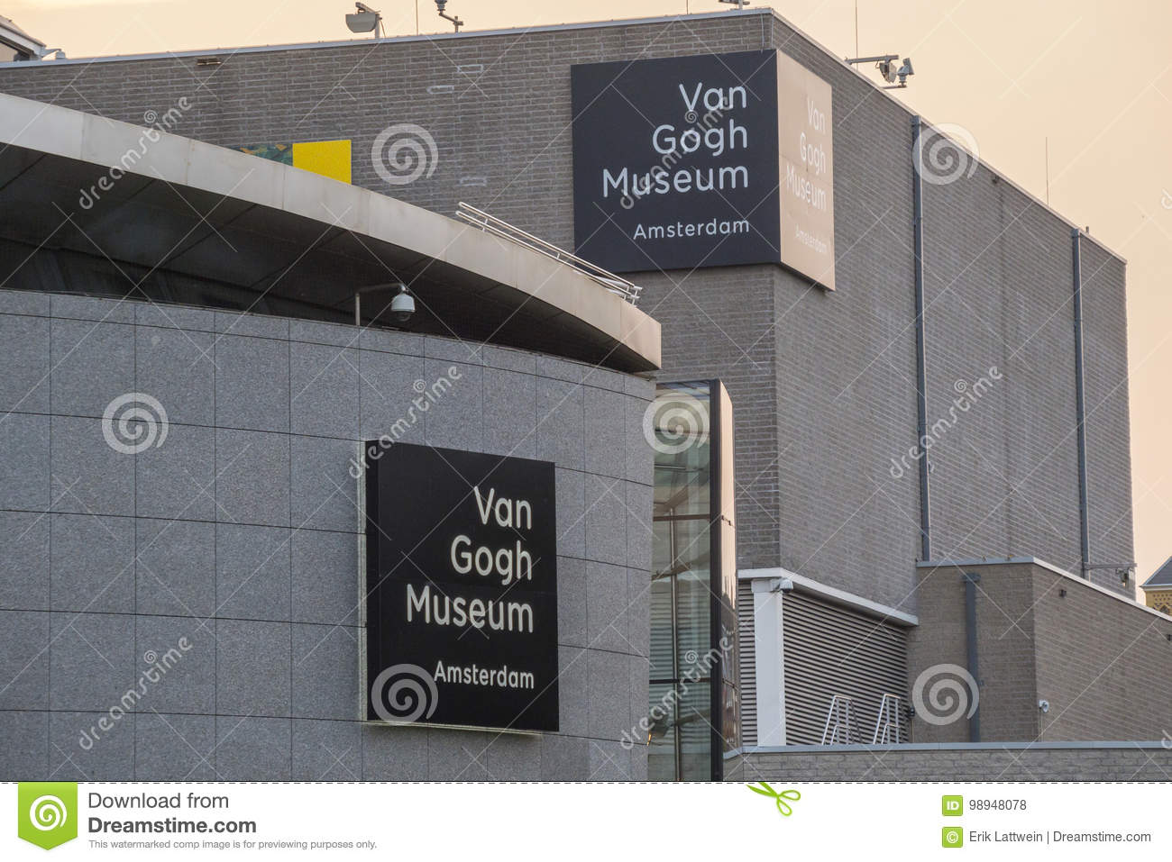 The museums at the Museum Quarter in Amsterdam - the Van Gogh Museum - AMSTERDAM - THE NETHERLANDS - JULY 20, 2017