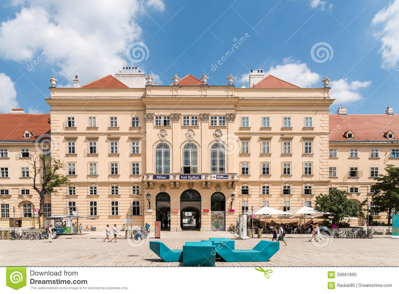 Download The Museumsquartier In Vienna Editorial Image - Image of famous, people: 59661895