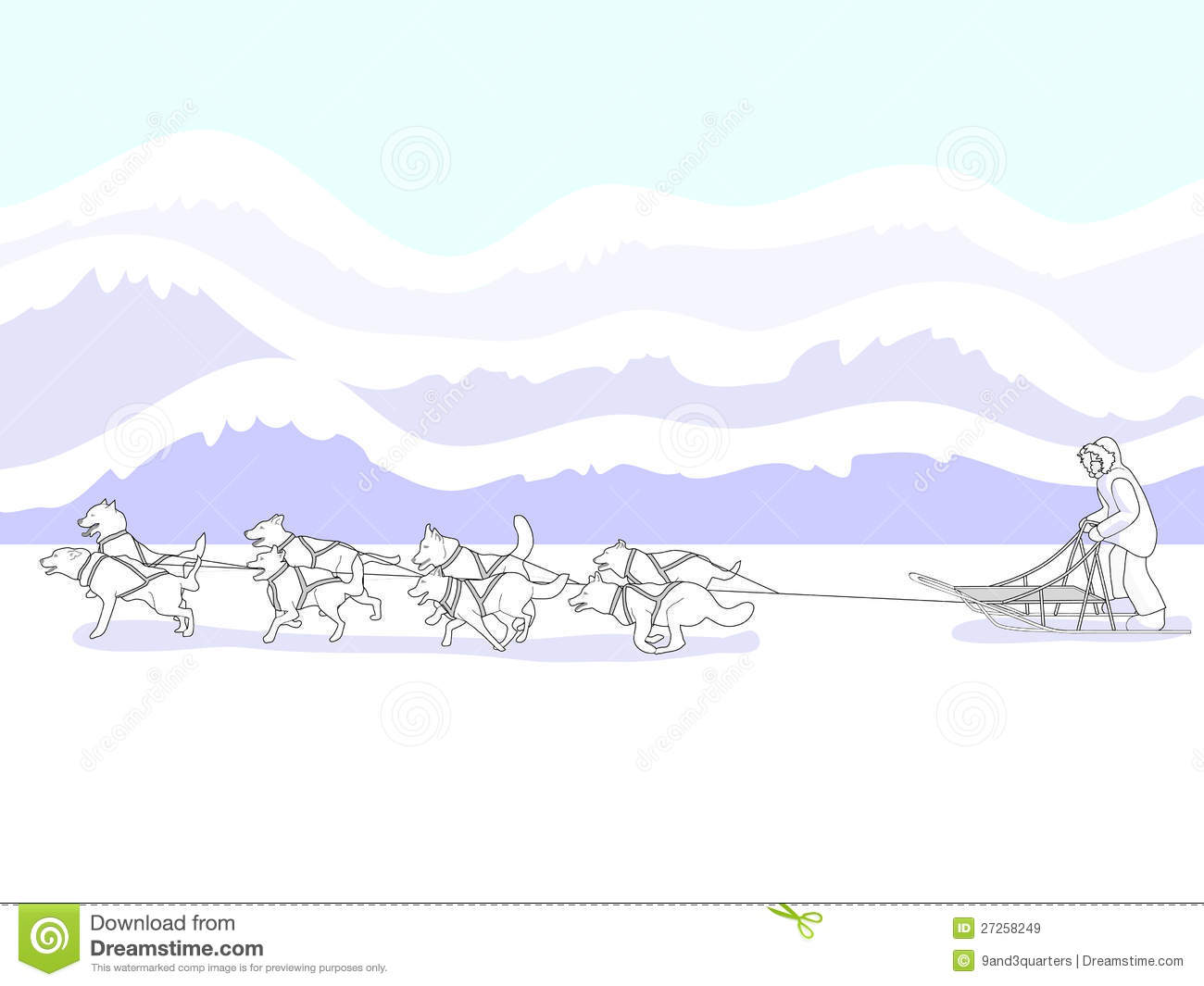 Musher And Dog Sled Team Royalty Free Stock Images Image